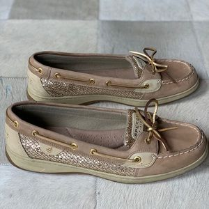Women's Sperry Gold Boat Shoes Size 12